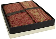 Picture of Sari Handmade Handbound A4 Journal Ruby Plain
