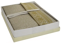 Picture of Sari Handmade Handbound A4 Journal White Plain