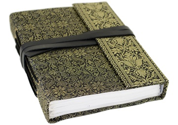 Picture of Sari Handmade Handbound A5 Journal Black Plain