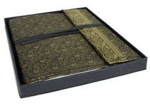 Picture of Sari Handmade Hand Bound Large Photo Album Black