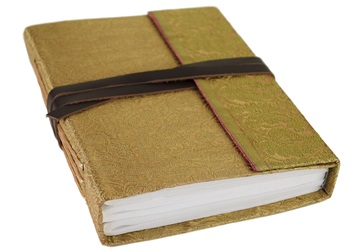 Picture of Sari Handmade A5 Refillable Journal Gold Plain