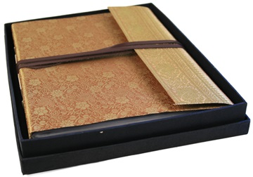 Picture of Sari Handmade Hand Bound Large Photo Album Gold
