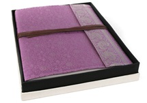Picture of Sari Handmade Hand Bound Large Photo Album Lilac