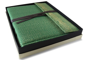 Picture of Sari Handmade Hand Bound Large Photo Album Olive