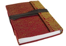 Picture of Sari Handmade A5 Refillable Journal Ruby Plain