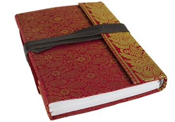 Picture of Sari Handmade Handbound A5 Journal Ruby Plain