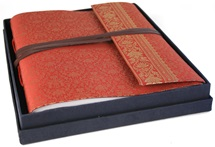 Picture of Sari Handmade Hand Bound Large Photo Album Ruby