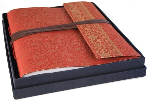 Picture of Sari Handmade Hand Bound Large Photo Album Ruby