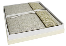 Picture of Sari Handmade Hand Bound Large Photo Album White