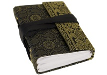 Picture of Sari Handmade A6 Refillable Journal Black Plain