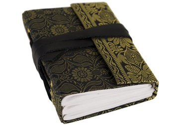 Picture of Sari Handmade Handbound Mini Journal Black Plain