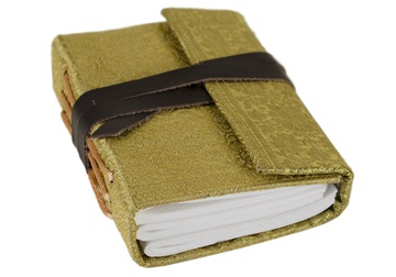Picture of Sari Handmade Handbound Mini Journal Gold Plain