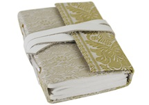 Picture of Sari Handmade Handbound Mini Journal White Plain
