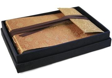Picture of Sari Handmade Hand Bound Small Photo Album Gold