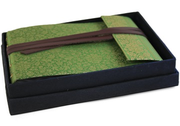 Picture of Sari Handmade Hand Bound Small Photo Album Olive