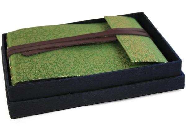 Picture of Sari Handmade Hand Bound Small Photo Album Olive