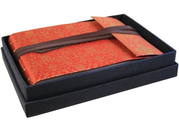 Picture of Sari Handmade Hand Bound Small Photo Album Ruby