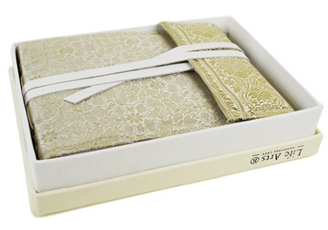 Picture of Sari Handmade Hand Bound Small Photo Album White