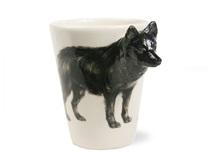Picture of Schipperke Handmade 8oz Coffee Mug Black