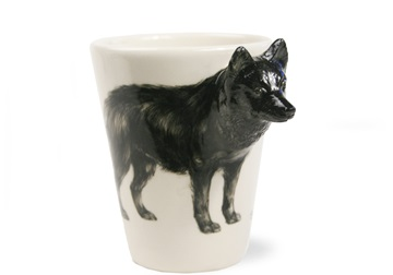 Picture of Schipperke Handmade 8oz Coffee Mug Black