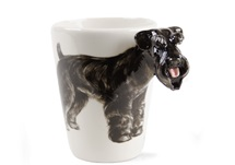 Picture of Schnauzer Handmade 8oz Coffee Mug Black