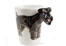 Picture of Schnauzer Handmade 8oz Coffee Mug Black