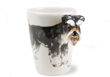 Picture of Schnauzer Handmade 8oz Coffee Mug Silver