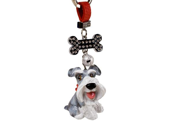 Picture of Schnauzer Handmade Mini Key Ring Silver