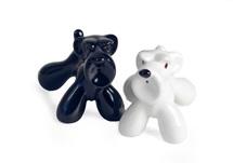 Picture of Schnauzer Handmade Ceramic Small Cruet Set Black and White