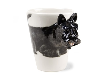 Picture of Scottish Terrier Handmade 8oz Coffee Mug Black