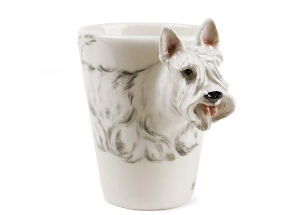 Picture of Scottish Terrier Handmade 8oz Coffee Mug White