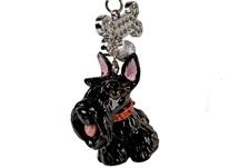 Picture of Scottish Terrier Handmade Mini Key Ring Black