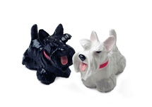 Picture of Scottish Terrier Handmade Mini Cruet Set White and Black