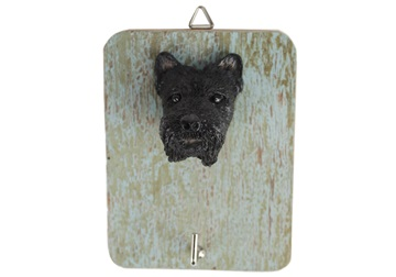 Picture of Scottish Terrier Handmade Rustic Single Wall Hook Black