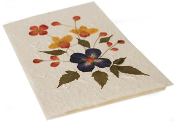 Picture of Scrappy Do Handmade Flower Design Large Card Blue Petal