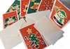 Picture of Scrappy Do Handmade Christmas Bells Large Card Green Batik