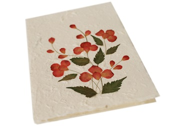 Picture of Scrappy Do Large Red Petal Handmade Flower Design Card
