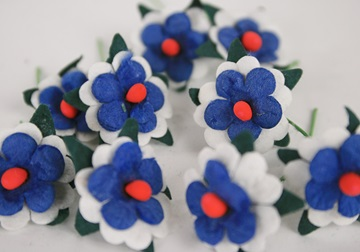Picture of Scrappy Do Daisy Mini Embellishment Blue And White