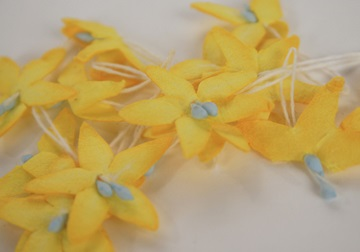Picture of Scrappy Do Star Flower Mini Embellishment Yellow
