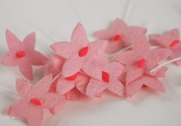 Picture of Scrappy Do Star Flower Mini Embellishment Pink