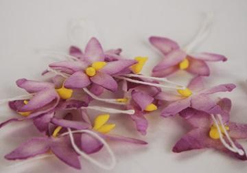 Picture of Scrappy Do Star Flower Mini Embellishment Purple
