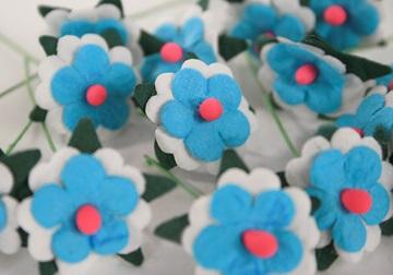 Picture of Scrappy Do Daisy Mini Embellishment Sky Blue And White