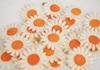 Picture of Scrappy Do Sunflower Mini Embellishment White And Orange