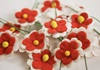 Picture of Scrappy Do Daisy Mini Embellishment White And Red