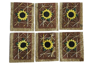 Picture of Scrappy Do Sunflower Small Embellishment Natural