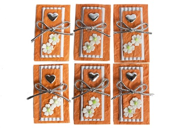 Picture of Scrappy Do Heart Small Embellishment Orange