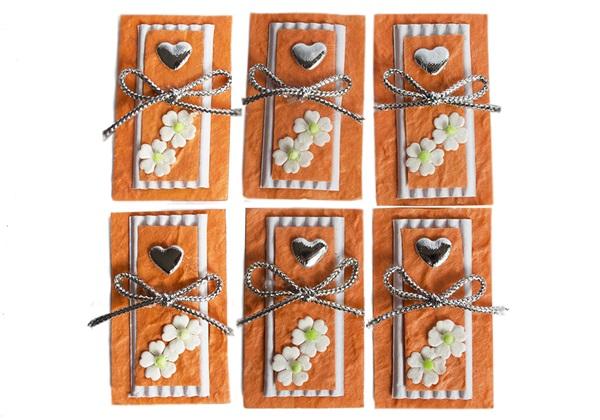 Picture of Scrappy Do Heart Small Embellishment Orange