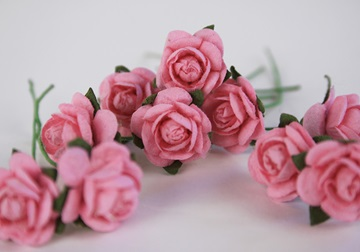 Picture of Scrappy Do Rose Blossom Small Embellishment Pink