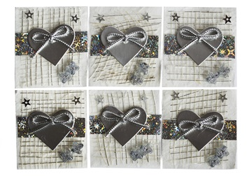Picture of Scrappy Do Heart Small Embellishment Silver