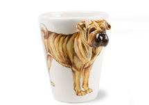Picture of Shar Pei Handmade 8oz Coffee Mug Fawn